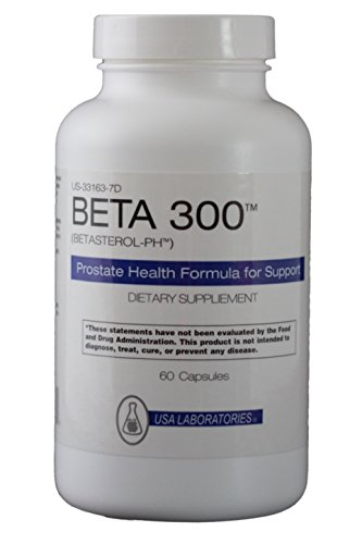 Beta 300 for Prostate Health and Prostate Support - Combine with Saw Palmetto - Triple the power 300 milligrams Beta Sitosterol, Selenium, Zinc 60 Caps - 100% Natural Prostate Support Beta Prosturol