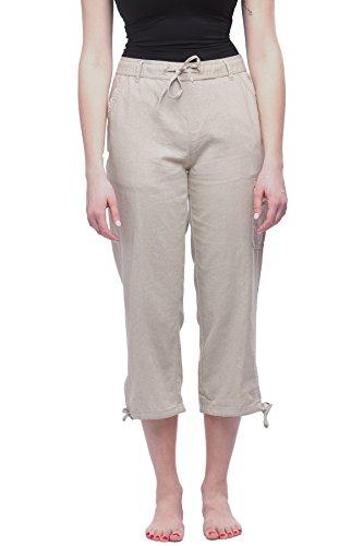 Womens Linen Drawstring Pants - 8