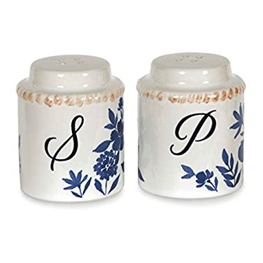 Pavilion Gift Company 86134 Ceramic Salt and Pepper Set, 2-3/8  High, Multicolored