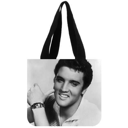 Emana Custom Elvis Presley Canvas Shopping Tote Bag shoulder handbags for christmas gift (Two (Elvis Gift Bag)