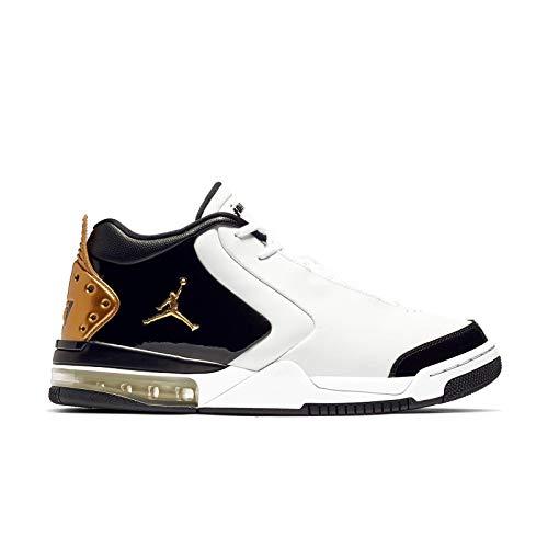 Jordan Air Big Fund Premium White Metallic Gold Black Men's Basketball Shoes (11.5)