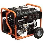 Generac GP8000 E Portable Generator with Electric Start and 20' Cord