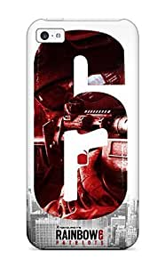 Hot LqjNdmX9621XVOww Case Cover Protector For Iphone 5c- Rainbow 6 Patriots by ruishername