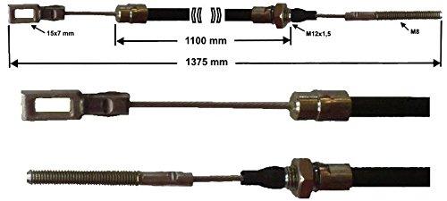 R234 GL 1375 mm 1100mm 76 HL C/âble de frein Peitz S234R