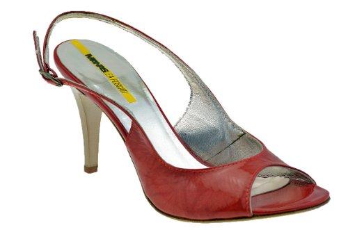Lea Foscati Buckle T.70 Pump New Ladies Shoes Red 7cFBX