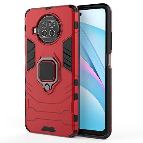 DAMTTE Polycarbonate Mi 10i 5 G Back Cover Case  Red