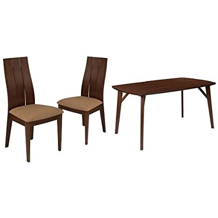 Charmant Flash Furniture Dearborn 5 Piece Walnut Wood Dining Table Set With Wide  Slat Back Wood Dining