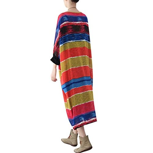 Youlee Mujeres Verano Otoño Vestido de cuello redondo free shipping ... f34cad85922