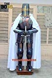 QUICK FALCON TRADER Wearable Medieval Knight Combat Armor Full Suit with Stand 6 FEET Mini Medieval Suit of Knights Armor for Home Office Decoration 3 Feet Height