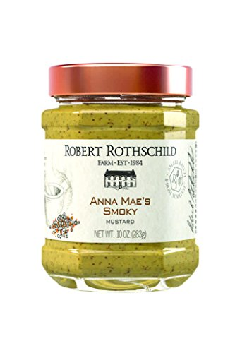 Robert Rothschild Farm Anna Maes Smoky Mustard (10 oz) - Mustard Condiment - Sandwich Spread - Bratwurst, Summer Sausage, Hot Dog Condiment - All Natural, Gluten Free
