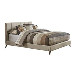 Hillsdale Furniture Aussie Upholstered Platform Bed, King, Fog
