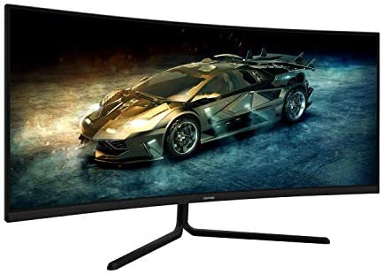 VIOTEK GNV34DB 34-Inch Ultrawide Gaming Monitor, Curved 1500R UWQHD VA Panel | 100Hz 1440p Monitor Resolution | FreeSync FPS/RTS | 3 HDMI Ports DP 3.5mm Aux (VESA)