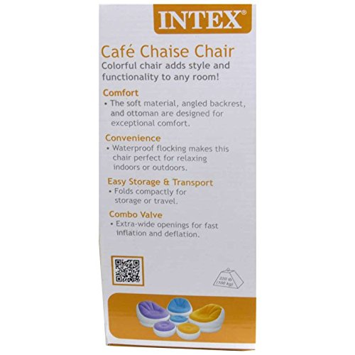 Apex Export Intex Inflatable Cafe Chaise Lounge Chair Round Shape Purple