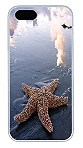 iPhone 5 5S Case Starfish PC Custom iPhone 5 5S Case Cover White