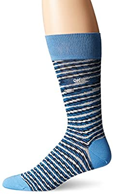 Calvin Klein Men's Space Dye Multi Stripes Crew Sock