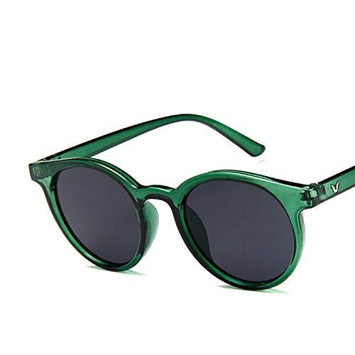 2019 Red blue round Sunglasses Women Fashion Pink Yellow Vintage Retro Shades,C5 dark -