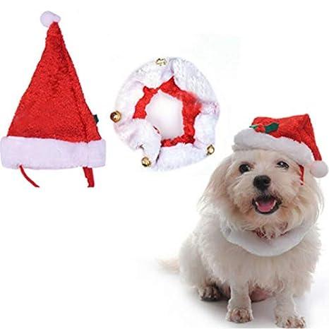 online in vendita vendita di liquidazione ultimo sconto Kesote Cappello di Babbo Natale per Cane e Gatto + Bavaglino ...