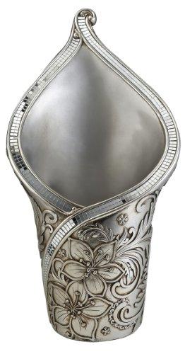 - ORE International K-4237-V2 Cherry Blossoms Tulip Decorative Vase, Silver