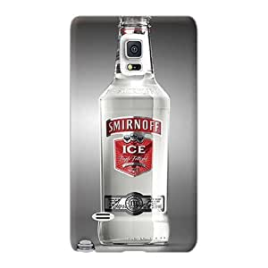 Protector Hard Cell-phone Cases For Samsung Galaxy Note 4 With Customized High-definition Smirnoff Ice Pattern JohnPrimeauMaurice