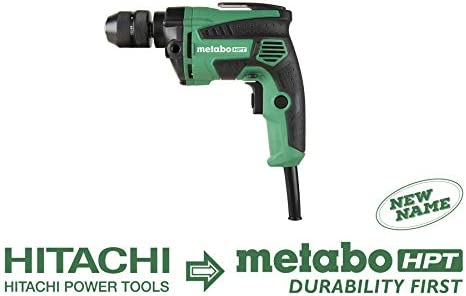 Metabo HPT Drill, Corded, 7-Amp, 3 8-Inch, Metal Keyless Chuck, Variable Speed w Dial, Rubber Over-Molded Handle, Forward Reverse, Belt Hook, 5-Year Warranty D10VH2
