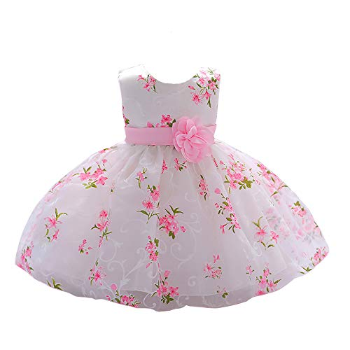 - LZH Baby Girl Dress Formal Christening Baptism Gowns Pageant Dress Toddler