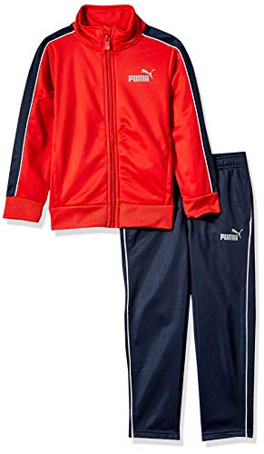 PUMA Little Boys' 2 Piece Tricot Set, Ribbon Red 7