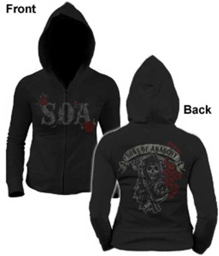 SONS OF ANARCHY JUNIORS ROSE REAPER HOODIE