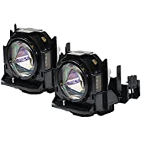 Panasonic ET-LAD60AW Projector Compatible Twin-Pack Projector Lamps