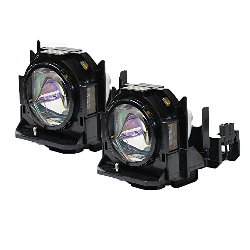 (Panasonic PT-D6000US Projector OEM Compatible Twin-Pack Projector Lamps)