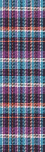 Checkered 3D Decorative Film Privacy Window Film No Glue,Frosted Film Decorative,Celtic Tartan Irish Culture Scotland Country Antique Tradition Tile Decorative,for Home&Office,17.7x59Inch Violet Light ()