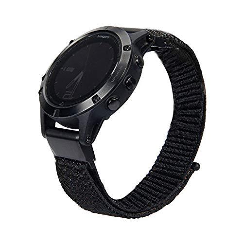 CIDETTY Fenix 5X Watch Band, CIDETTY 26mm Quick Fit Black Real Leather Bands for Garmin Fenix 5X Descent Mk1 D2 Charlie quatix 3 Fenix 3 HR Fenix 3 Tactix Bravo - Charlie Band