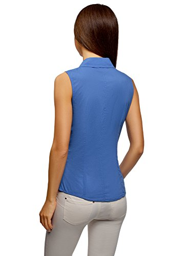 Bleu Femme 7500n Manches sans Chemise Ultra oodji Basique 6v7qZKB