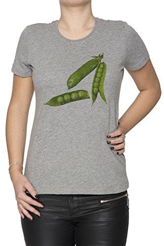Pois Gris Coton Femme T-shirt Col Ras Du Cou Manches Courtes Grey Women's T-shirt
