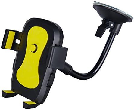 YIKETING 多機能ホースサクションカップ車の電話ホルダー360度回転ナビゲーションロックオートロックレイジーステント電話マウント (色 : ピンク)