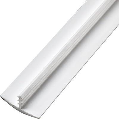 "3/4"" x 12' Plastic T-Molding, White"