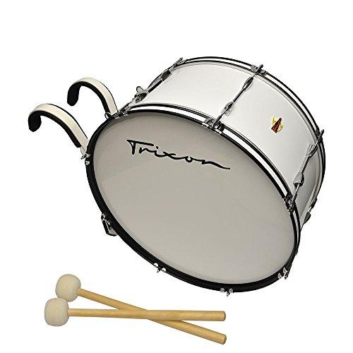 Trixon Field Series Marching Bass Drum - 24'' x 12'' - White by Trixon Drums