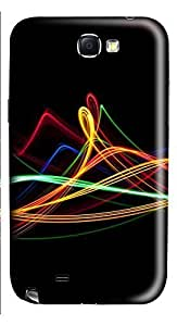 Samsung Note 2 Case Colored Stripes 3D Custom Samsung Note 2 Case Cover