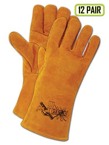 Magid Glove & Safety T2701S-X WeldPro Shoulder Split Welding Glove, Brown, Brown (Pack of 12)