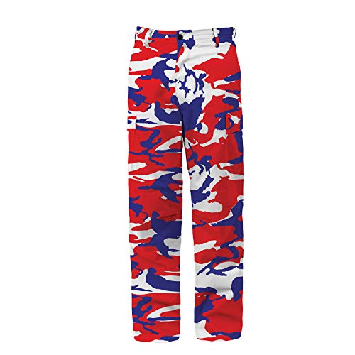 (Rothco Camo BDU Pants, Red/White/Blue Camo, 2XL)