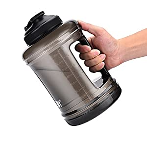 Sports Large Capacity Water Bottle Jug [85OZ/2.5L, Hard BPA-Free PETG Material] Drinking Water Container for Outdoor Training Bodybuilding Gym Camping and more Huge Tank