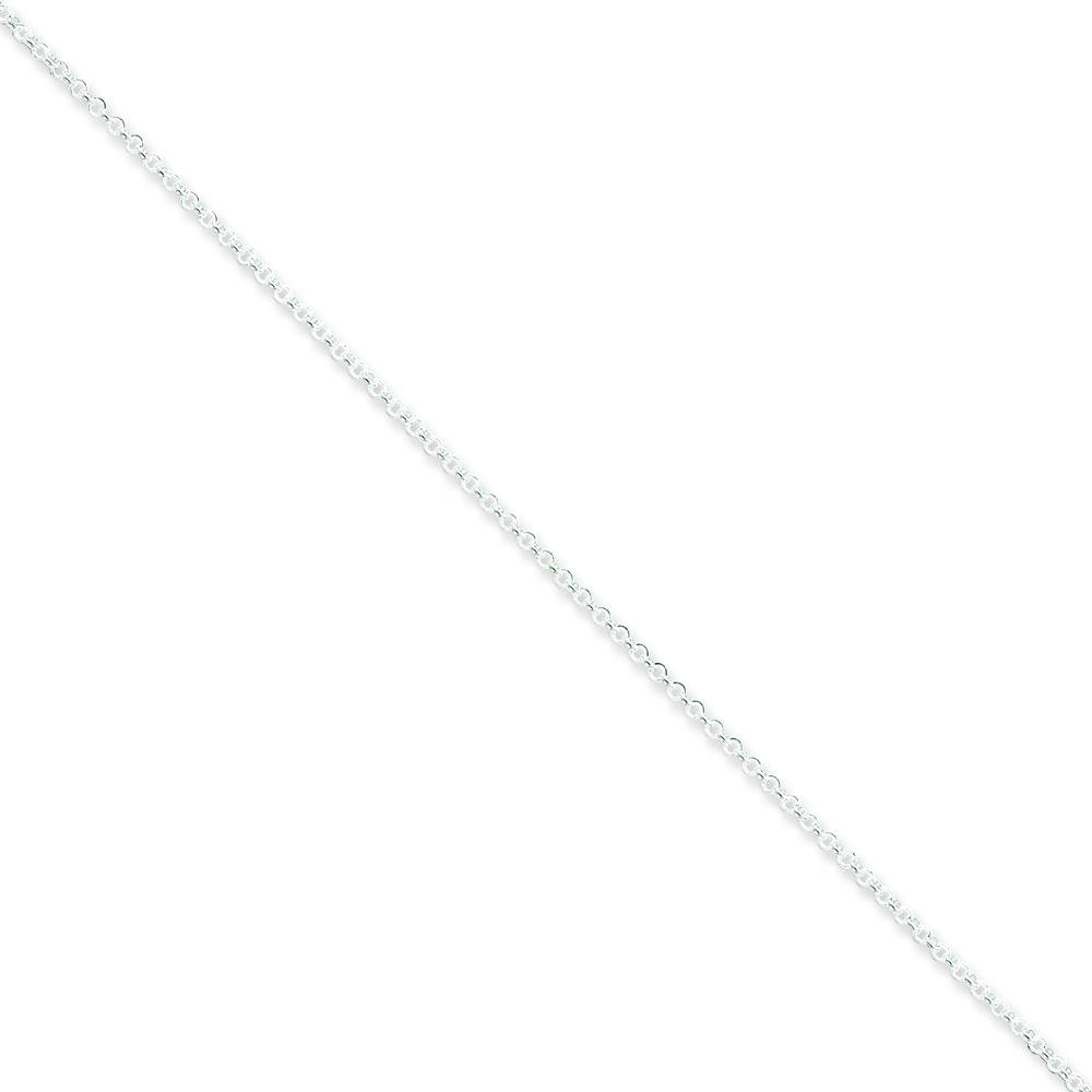 Sterling Silver 1.5mm Rolo Chain Anklet Jewelry 9