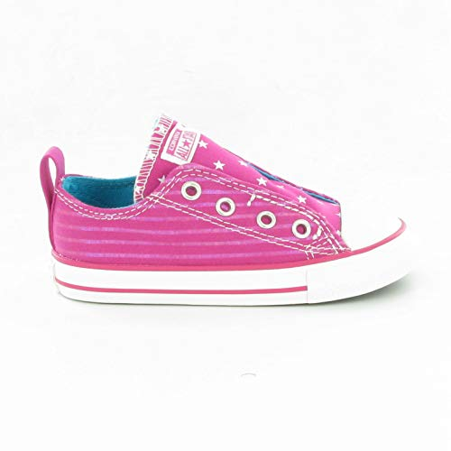 Converse Kids Girls' Chuck Taylor All Star Simple Slip Ox (Infant/Toddler), Eglantine, 5 ()