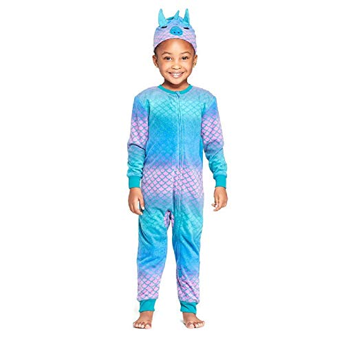 Girl Dragon Blanket Sleeper Union Suit - 12 Month Purple]()