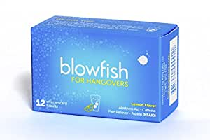 Blowfish for Hangovers (12 Tablets) – Best Hangover Remedy – FDA-Recognized – Scientifically Formulated and Guaranteed to Relieve Hangover Symptoms Fast