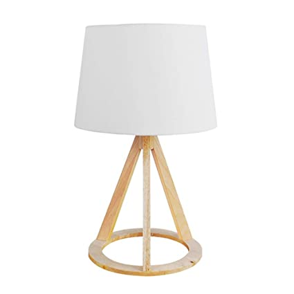 Trípode De Madera Lámpara Mesa SCAML Diseño Simple Con Luz ...