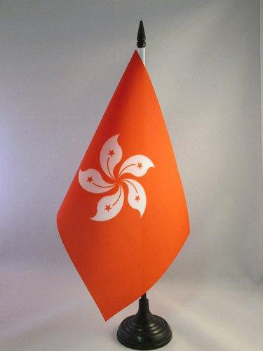 AZ FLAG Bandiera da Tavolo Hong Kong 21x14cm - Piccola BANDIERINA Cinese 14 x 21 cm