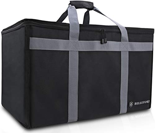 (Insulated Food Delivery Bag - Waterproof Warmer Cooler Grocery Storage Bags - Restaurant Buffet Server, Warming Tray, Lunch Container Store - Steamer, Pizza Box, Chafing Dish & Casserole Carrying)