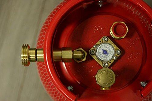 Gas Botella 27L (11kg) recargables con 80% Relleno Stop, indicador de contenido y Beta nkungs Set GZWM