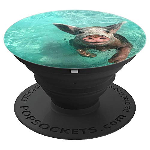 I Love Pigs - Pig Beach Pop Socket - PopSockets Grip and Stand for Phones and Tablets