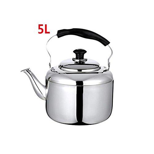 Xuan - worth having Accueil 304 Bouilloire en acier inoxydable Cuisinière à induction plus épaisse Gaz Chaleur générale Cuisine Restaurant Sifflet automatique 5L